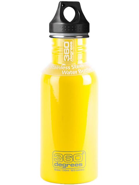 360° degrees Stainless Drinkfles 550ml geel